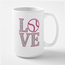 Baseball LOVE Large Mug