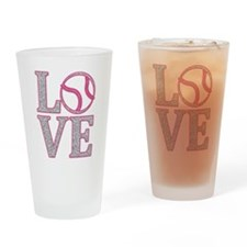 Baseball LOVE Drinking Glass