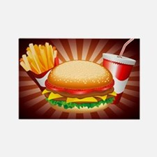 Fast Food Hamburger Fries and Drink Magnets
