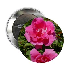 Pair of Pink Roses Button (10 pk)