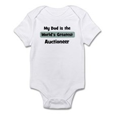 Worlds Greatest Auctioneer Infant Bodysuit