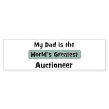 Worlds Greatest Auctioneer Bumper Car Sticker