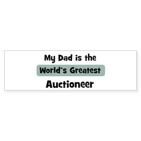 Worlds Greatest Auctioneer Bumper Sticker