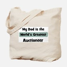 Worlds Greatest Auctioneer Tote Bag