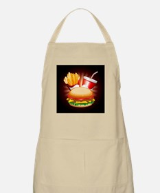Fast Food Hamburger Fries and Drink Apron