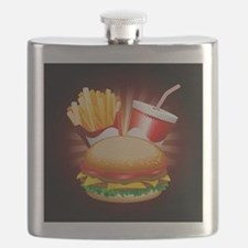 Fast Food Hamburger Fries and Drink Flask