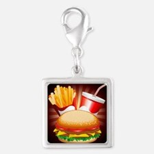 Fast Food Hamburger Fries and Drink Charms