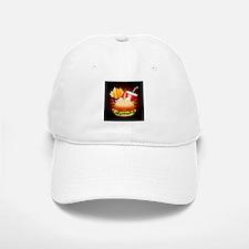 Fast Food Hamburger Fries and Drink Baseball Baseball Baseball Cap