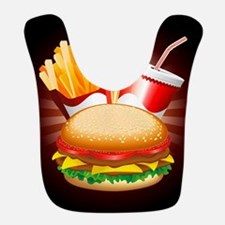 Fast Food Hamburger Fries and Drink Bib