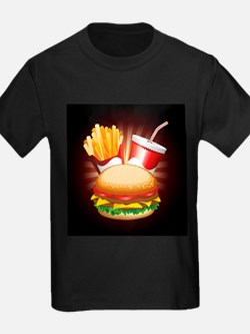 Fast Food Hamburger Fries and Drink T-Shirt