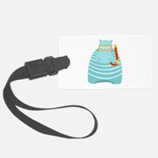 Snorkeling Hippo Luggage Tag