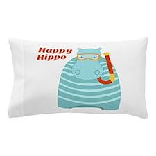 Happy Hippo Pillow Case