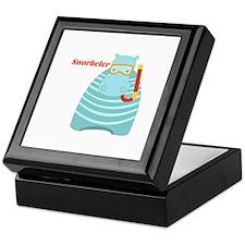 Hippo Snorkeler Keepsake Box