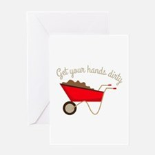 Hands Dirty Greeting Cards