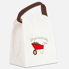 Hands Dirty Canvas Lunch Bag
