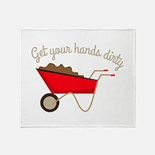 Hands Dirty Throw Blanket
