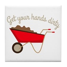 Hands Dirty Tile Coaster