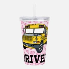 School Bus Driver Acrylic Double-wall Tumbler