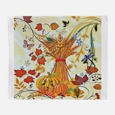 Autumn delight Throw Blanket