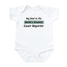 Worlds Greatest Court Reporte Infant Bodysuit