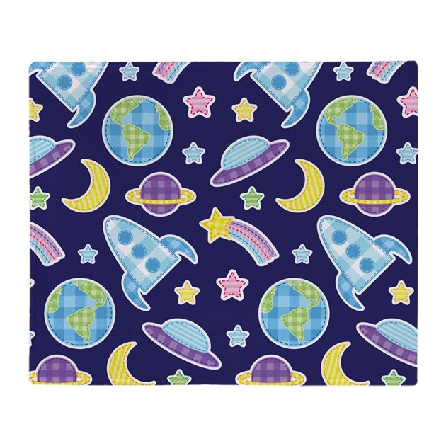 Outer space explorer throw blanket by mainstreethomewares2 for Outer space design australia