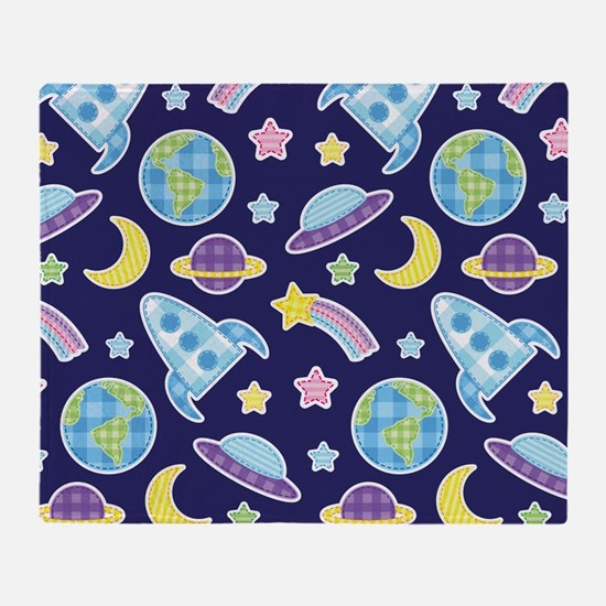 Outer Space Explorer Throw Blanket