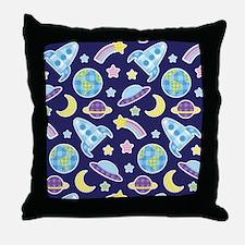 Outer Space Explorer Throw Pillow