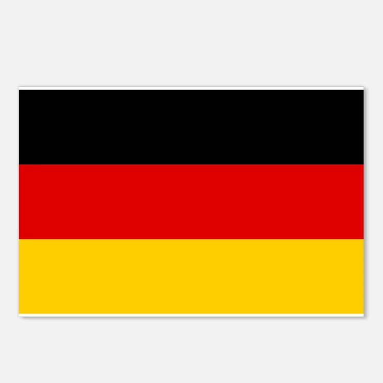 Germany Flag Postcards (Package of 8)