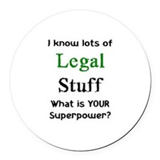 Cute Legal Round Car Magnet