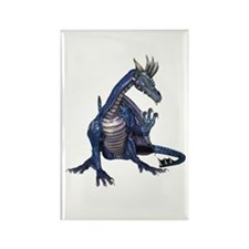 Blue Dragon Rectangle Magnet