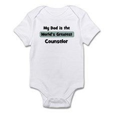 Worlds Greatest Counselor Infant Bodysuit