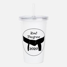 2nd Degree Black Belt Acrylic Double-Wall Tumbler