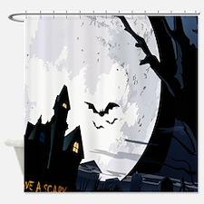 Creepy Haunted House Shower Curtain