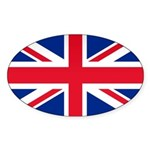 Britain Flag Oval Sticker