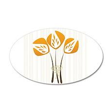 Orange Art Deco Style Tulips Bouquet Floral Wall S