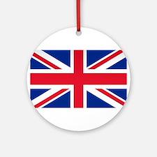 Britain Flag Ornament (Round)