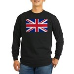 Britain Flag Long Sleeve Dark T-Shirt