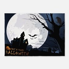 Creepy Haunted House 5'x7'Area Rug