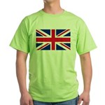 Britain Flag Green T-Shirt