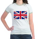 Britain Flag Jr. Ringer T-Shirt
