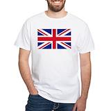 England flag Mens White T-shirts