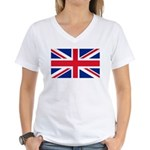Britain Flag Women's V-Neck T-Shirt