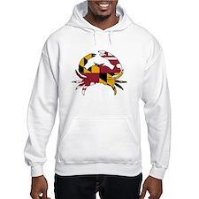 Maryland State Flag Crab Hoodie