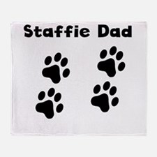 Staffie Dad Throw Blanket