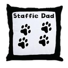 Staffie Dad Throw Pillow
