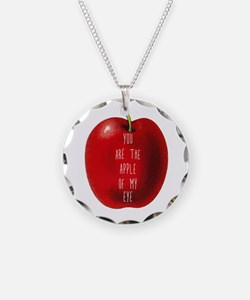 You Are The Apple of My Eye Necklace
