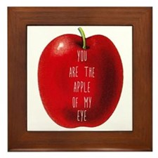 You Are The Apple of My Eye Framed Tile