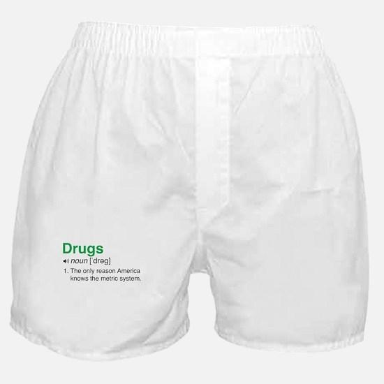 Drugs Definition Boxer Shorts