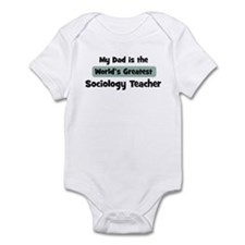 Worlds Greatest Sociology Tea Infant Bodysuit