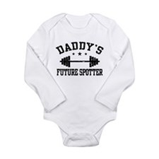Cute Weightlifting Long Sleeve Infant Bodysuit